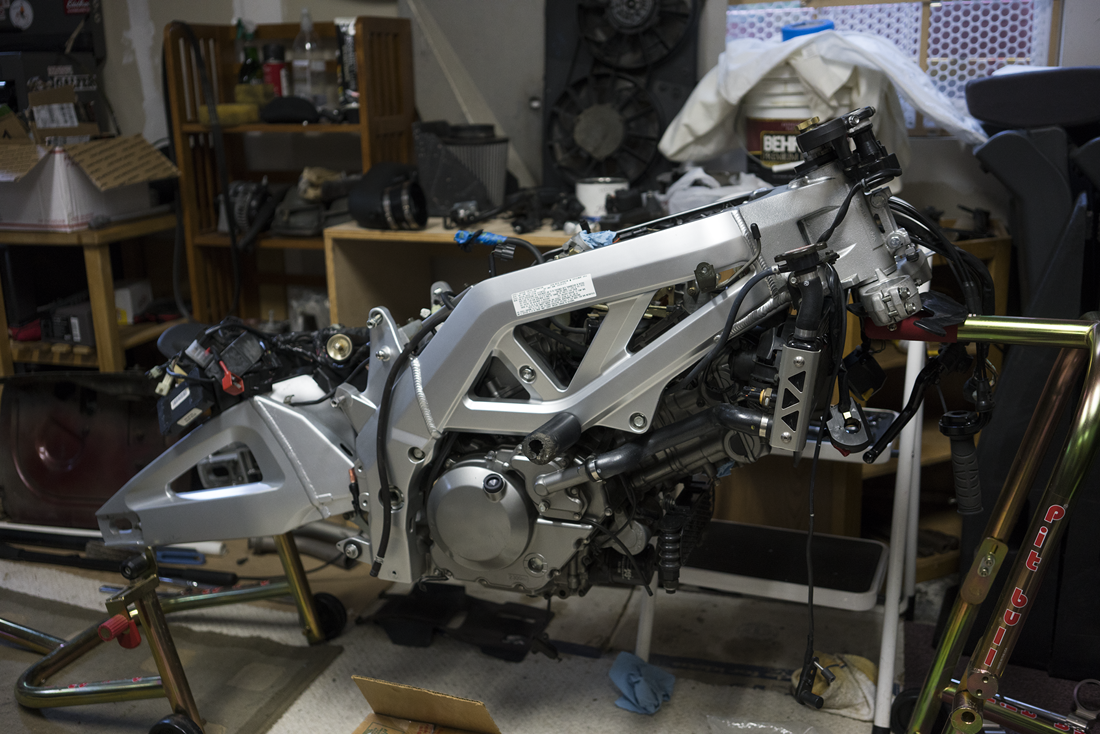 started working on the SV650S again…